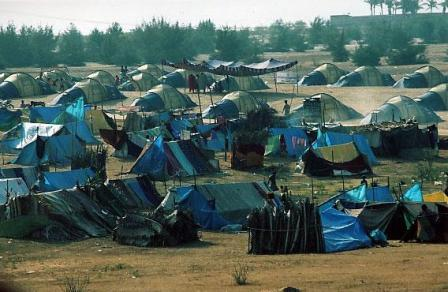 Tsunami refugee camp, Chennai, India