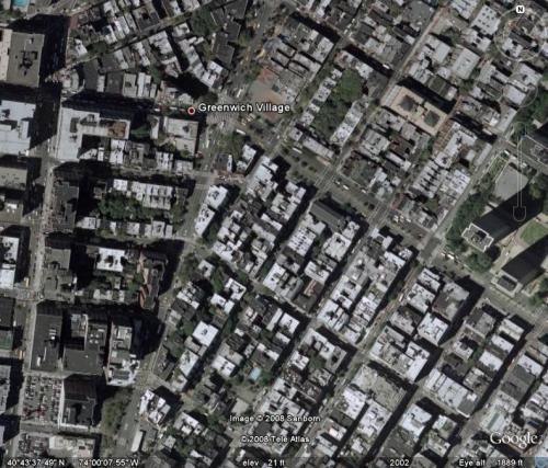 Greenwich Village aerial