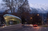 Zaha Hadid\'s subway station in Innsbruck