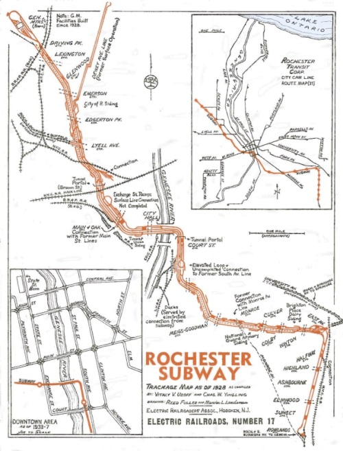 Old Rochester Subway Map Line Service.Rochester Subway A Town Square