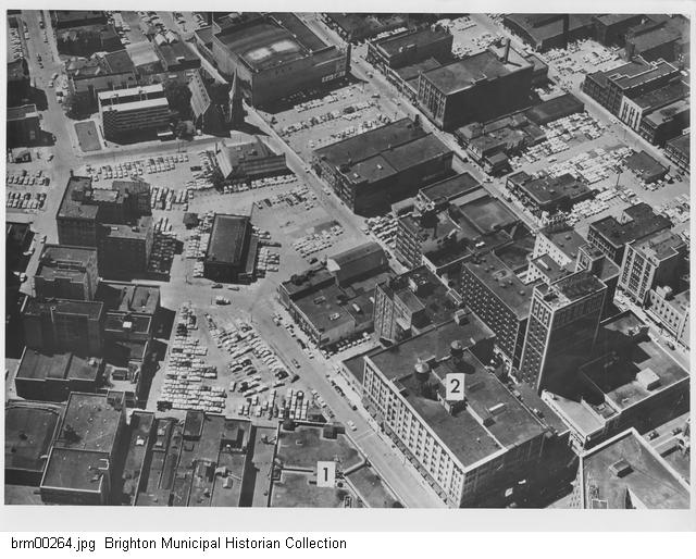 Downtown 1956 aerial
