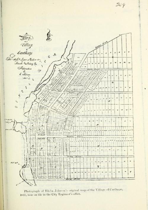 Map of Carthage 1817 Elisha Johnson