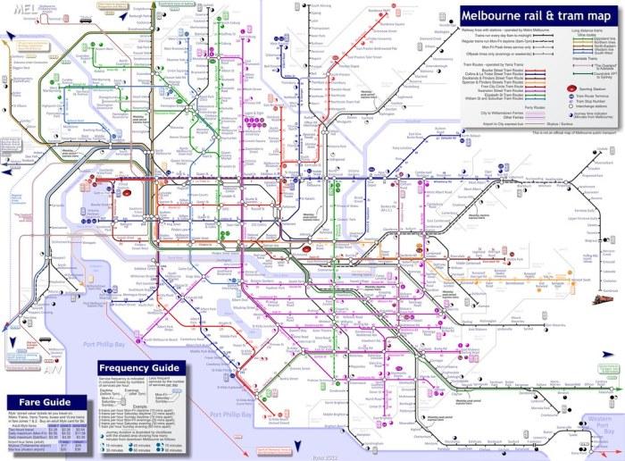 Melbourne transit map